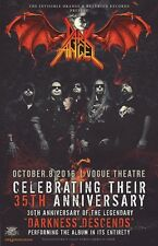 "DARK ANGEL ""35TH ANNIVERSARY"" 2017 VANCOUVER CONCERT TOUR POSTER - Thrash Metal"