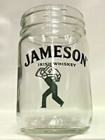 Lot of 6 JAMESON IRISH WHISKEY Real GLASS Mason Jars Home Bar Man Cave Gift 12oz
