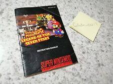 MANUAL ONLY Super Nintendo SNES Super Mario RPG Legend of the Seven Stars Game
