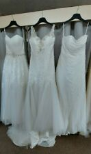 Joblot of 3 x Ivory Lace Chiffon wedding bridal dresses with defects