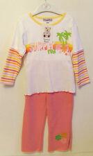 Filles bébé blanc/rose fleur haut/pantalon tenue ensemble - 23 mois-neuf