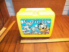 "1978 Thermos ""Garfield"" Yellow Plastic Lunch Box"
