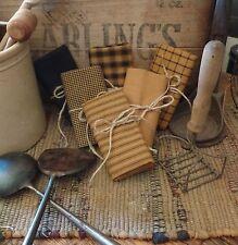 Homespun Fabric Samplers~Spice Collection~Prims~Plaids~Checks~Stripes~Solids