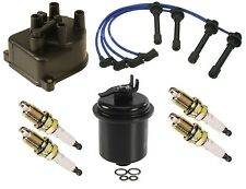 For Honda Civic LX 1.6L D16Y7 Tune Up KIT Fuel Filter Cap NGK Wire Set & Plugs