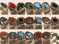 10 Pcs Turkish Ring Fashion Jewellery 925 Silver Overlay