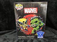 Funko Pop Tees Marvel Wolverine Hulk 2XL T-Shirt Bobble-Head Combo SEALED