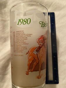 1980 Belmont Stakes Frosted Glass  Excellent Condition