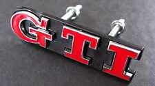 RED GTI Grill Badge Golf Polo MK2 MK3 MK5 MK6 VW