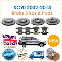 For Volvo XC90 2.4 T6 D5 2002-2014 Front & Rear Brake Discs & Brake Pads New