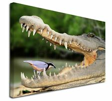 More details for nile crocodile, bird in mouth x-large 30