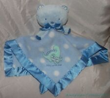 """Carters Baby Plush 15"""" Blue Bear Play With Me Dino Fleece Lovey Security Blanket"""