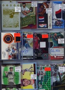 HUGE PREMIUM PATCH 1/1 AUTO JERSEY ROOKIE INSERT SPORTS CARD COLLECTION LOT $$