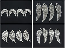 Tibetan Silver Carved Angel Wing Metal Pendant Necklaces Charm Beads Findings