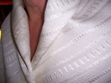 3y HAUTE COUTURE DESIGNER FABRIC OFF WHT SILK WOOL MATELASSE SILVER GOLD ACCENTS