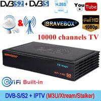 V8 Magic DVB-S/S2 1080P FHD Smart Digital Satellite Receiver TV Box H.265 WIFI