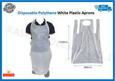Disposable Aprons Specification PPE NHS Medical Protective Waterproof - White
