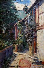 K. Pallmann *1886 Ölgemälde Ölbild alt antik Impressionismus Romantik Landschaft