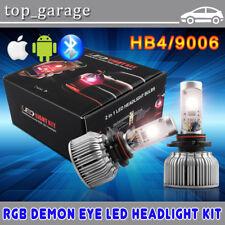 9006 HB4 Dual Function RGB LED Headlight Fog Lamp Color Changing Demon Eye Bulb
