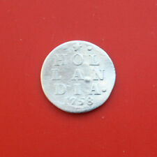 Niederlande: 2 Stuiver Silber 1758, Provinz Holland (Hollandia), #F 2112, SS-VF