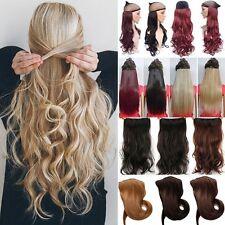 Gewellt 8 Teilig Set Extension Haarverlängerung Haarteil Blond Perücke Kunsthaar