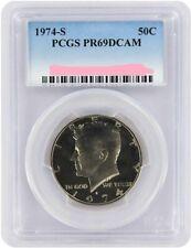 1974-S KENNEDY CLAD HALF DOLLAR PCGS PR69DCAM BEAUTIFUL 3