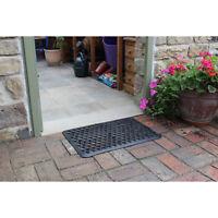 JVL Outdoor Honeycomb Rubber Ring Entrance Floor Door Mat, 40 x 70 cm