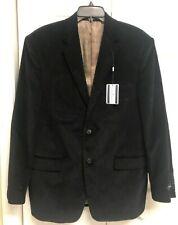 NEW mens Saddlebred sport coat blazer  jacket 42R navy blue corduroy