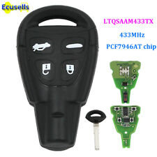 4 Buttons Remote Key Fob 433Mhz PCF7946AT Fit For SAAB 9-3 9-5 FCC:LTQSAAM433TX