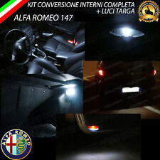 KIT FULL LED INTERNI ALFA 147 CONVERSIONE COMPLETA + LED TARGA CANBUS