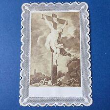 CANIVET Christ XIXè Image Pieuse HOLY CARD 19thC Santino