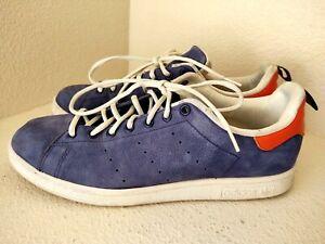 adidas Stan Smith Indigo/Orange/White Tennis Shoes Sneakers US Mens 11.5 B24713