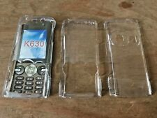 2 x CLEAR CRYSTAL HARD PLASTIC CASES COVERS SHELLS - SONY ERICSSON K630 PHONE