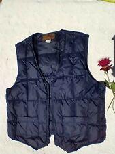 Vintage Eddie Bauer Premium Quality Goose Down Navy Blue Vest Men's Large Pocket