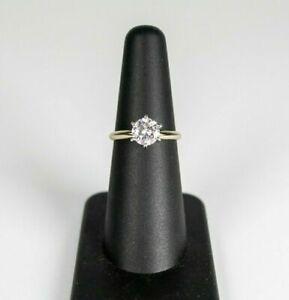 14K White Gold Charles & Colvard Forever One .97CTW Moissanite Solitaire Ring