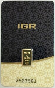 IGR ISTANBUL TURKEY GOLD REFINERY GOLD GRAM 1 GRAM .9999 FINE SEALED BAR