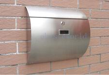waterproof Semi Curve lockable mailboxes stainless steel modern uban style