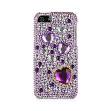 APPLE IPHONE 5 / 5S / SE FULL DIAMOND CASE PURPLE HEART