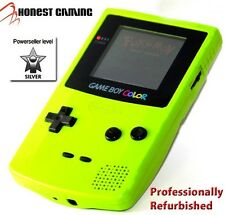 NEW GLASS SCREEN --- NINTENDO GAME BOY COLOR GREEN KIWI -- RESTORED PERFORMANCE