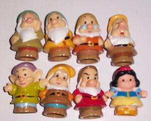 Little People Schneewittchen und die 7 Sieben Zwerge Figuren Fisher Price