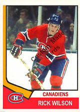 Custom made Topps  1974-75 Montreal Canadiens Rick Wilson  hockey card.