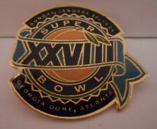 Vintage 1994 Superbowl XXVIII Lapel Pin Dallas Cowboys Buffalo Bills Atlanta GA