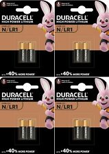 8 x DURACELL® E90 N M9100 LR1 1.5V Alkaline Batteries Expiry 2024