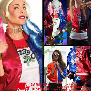 Harley Quinn Suicide Squad Bomber Jacket Halloween Ladies Cosplay Women's Party