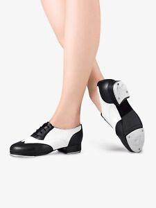 Leo's Spectator Black and White Tap Shoe for Women, NEW, LD3004L