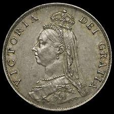 1887 Queen Victoria Jubilee Head Silver Florin, G/EF