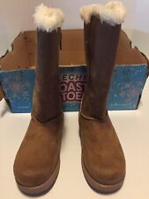 Sketcher Toasty Toes Sparkle Glam Cozy Princess Chestnut Boots Girls Size 11