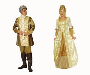 Paar Partner Kostüm PRINZ o PRINZESSIN Damen Herren Barock Rokoko Kleid Gehrock