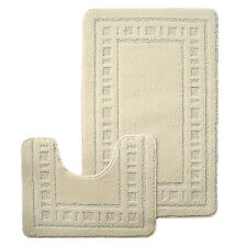 Catherine Lansfield Rectangle Solid Pattern Bath Mats