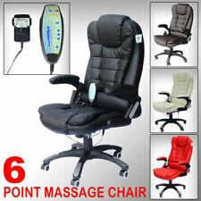 Back HOMCOM Reclining PU Leather Home Office Computer Swivel Chair Massage High