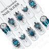 Dawn Tribal Gems Flower Butterfly Nail Water Transfer Decal Sticker Art Slider